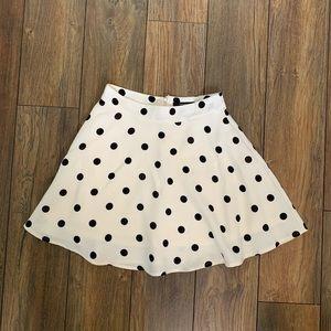 Polka Dot Mini Skirt - Black & White